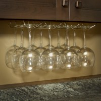 Under Cabinet Wine Glass Stemware Holder Rack with