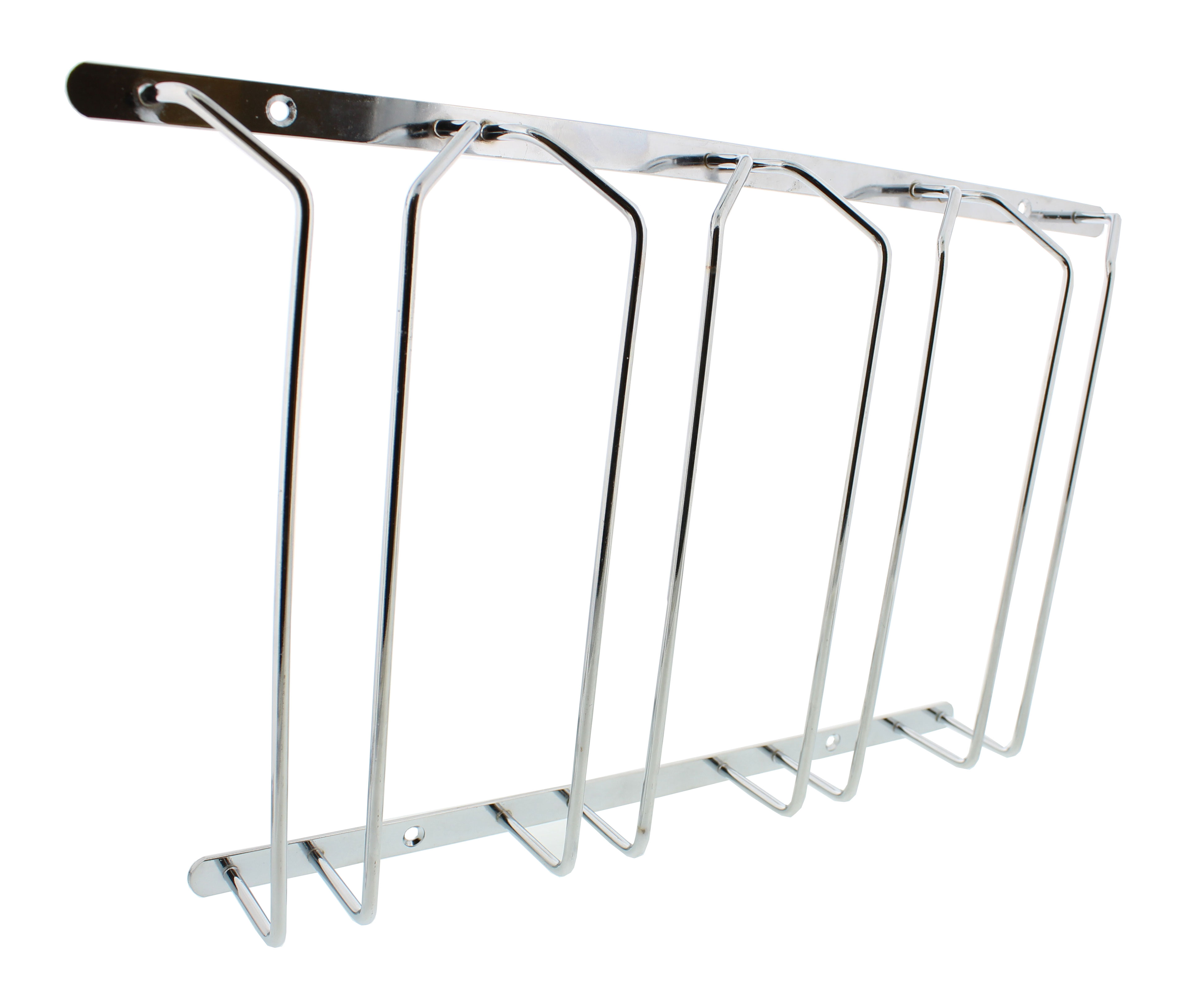 Countertop Wine Glass Rack Wine Glass Rack Under Cabinet Stemware Holder Holds 6 To