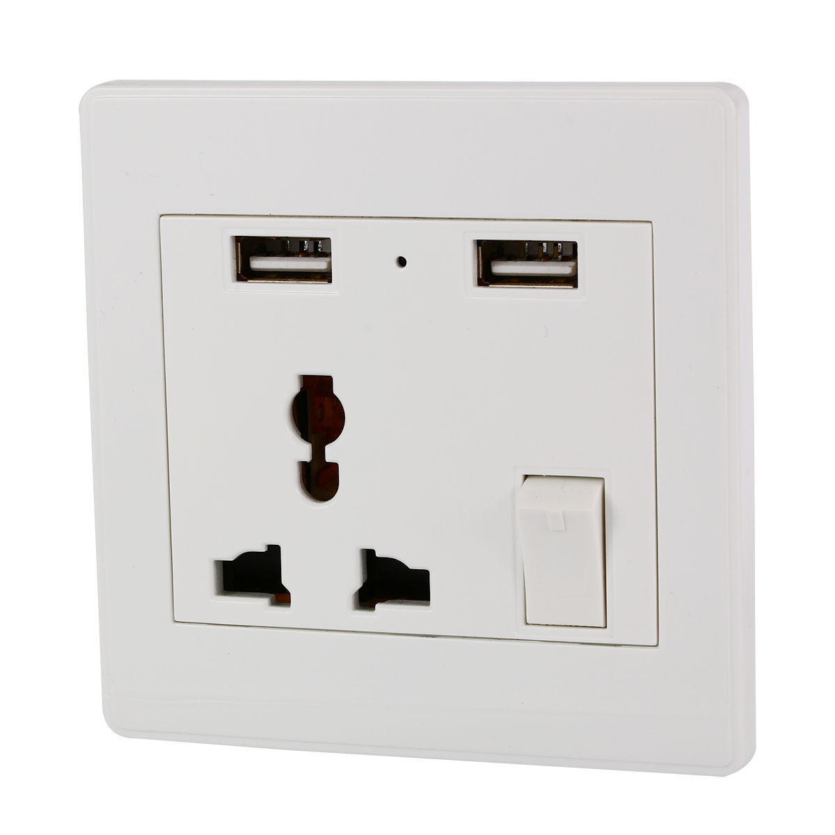 Usb Power Plug Universal Dual 2 Usb Electric Wall Power Socket Outlet