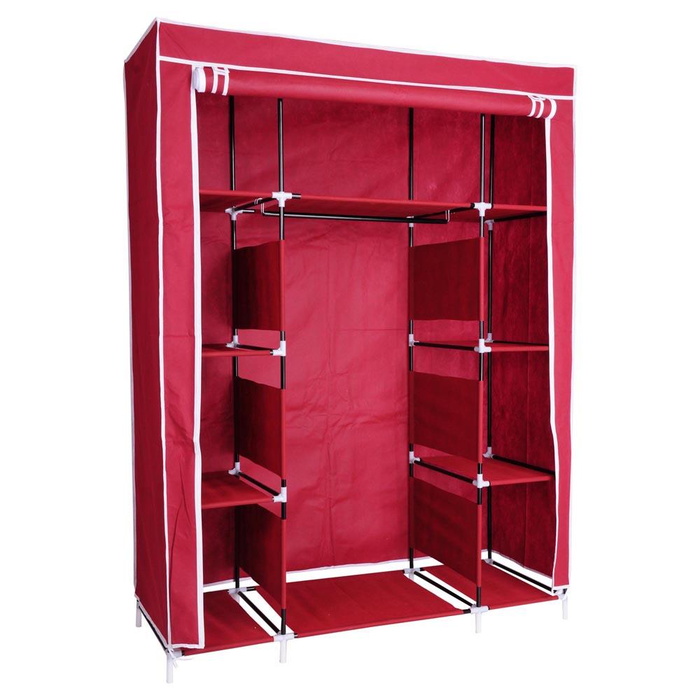 50quot Portable Wardrobe Organizer Clothes Closet Rack