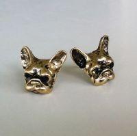 Retro French Bulldog Stud Earrings Frenchie Women's ...