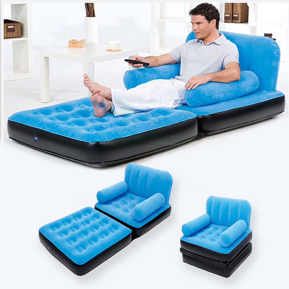 Multi Max Inflatable Pull Out Sofa Couch Full Double Air Bed - Inflatable Chair Sofa