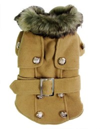 Small Dog Apparel for Girl Boy Woolen Winter Double ...