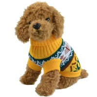 Small Cat Dog Warm Sweater Knit Coat Xmas Tree Pet Clothes ...