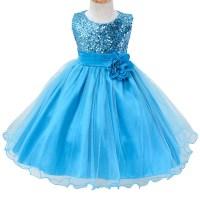 Toddler Baby Girls Sequin Wedding Bridesmaid Dress ...