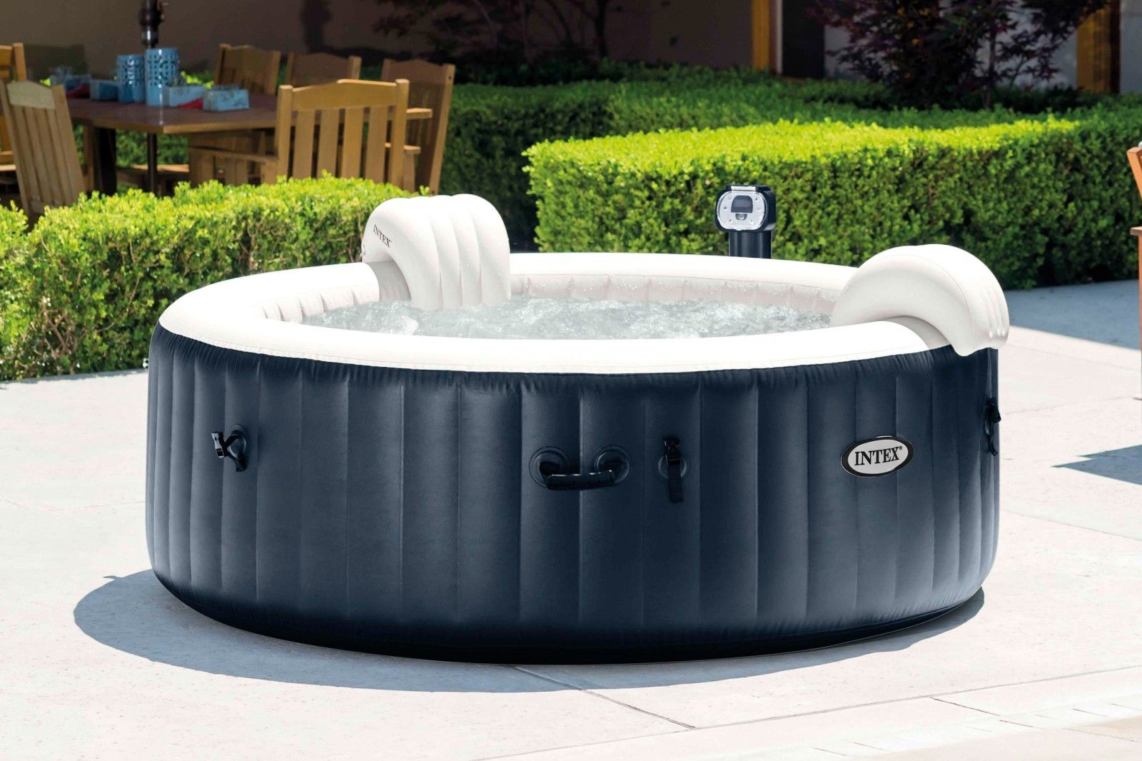 Jacuzzi Brand Pool Pump Intex Pure Spa 4 Person Inflatable Portable Heated Bubble