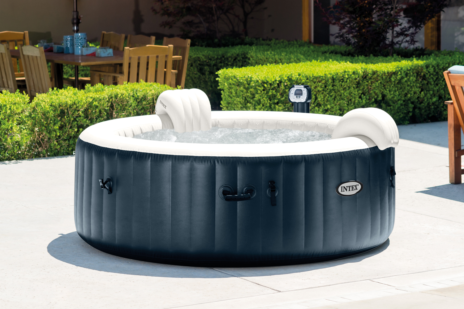 Jacuzzi Pool Temperature Intex Pure Spa 6 Person Inflatable Portable Heated Bubble
