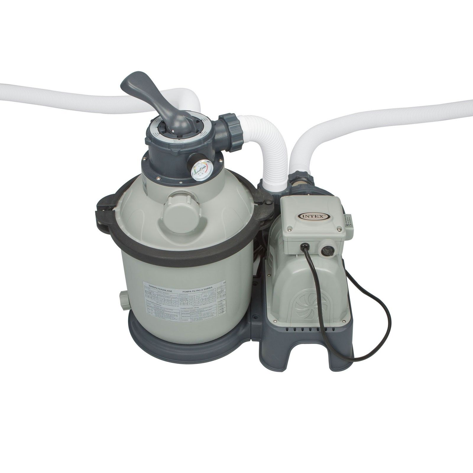 Pool Filter Pump Parts Intex 1200 Gph Krystal Clear Above Ground Pool Sand Filter