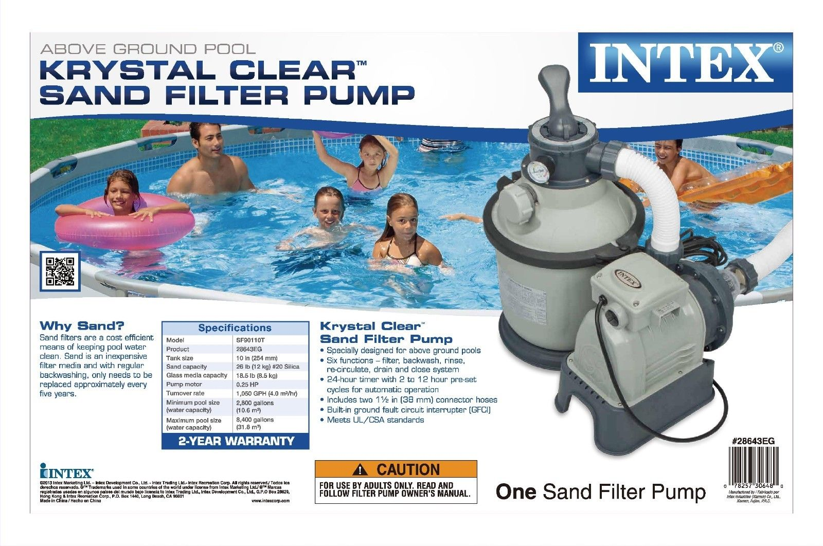 Sandfilter Pool Anleitung Bestway Details About Intex 1200 Gph Krystal Clear Above Ground Pool Sand Filter Pump Set 28643eg