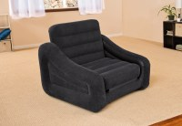 Intex Inflatable Air Chair with Pull Out Twin Bed Mattress ...