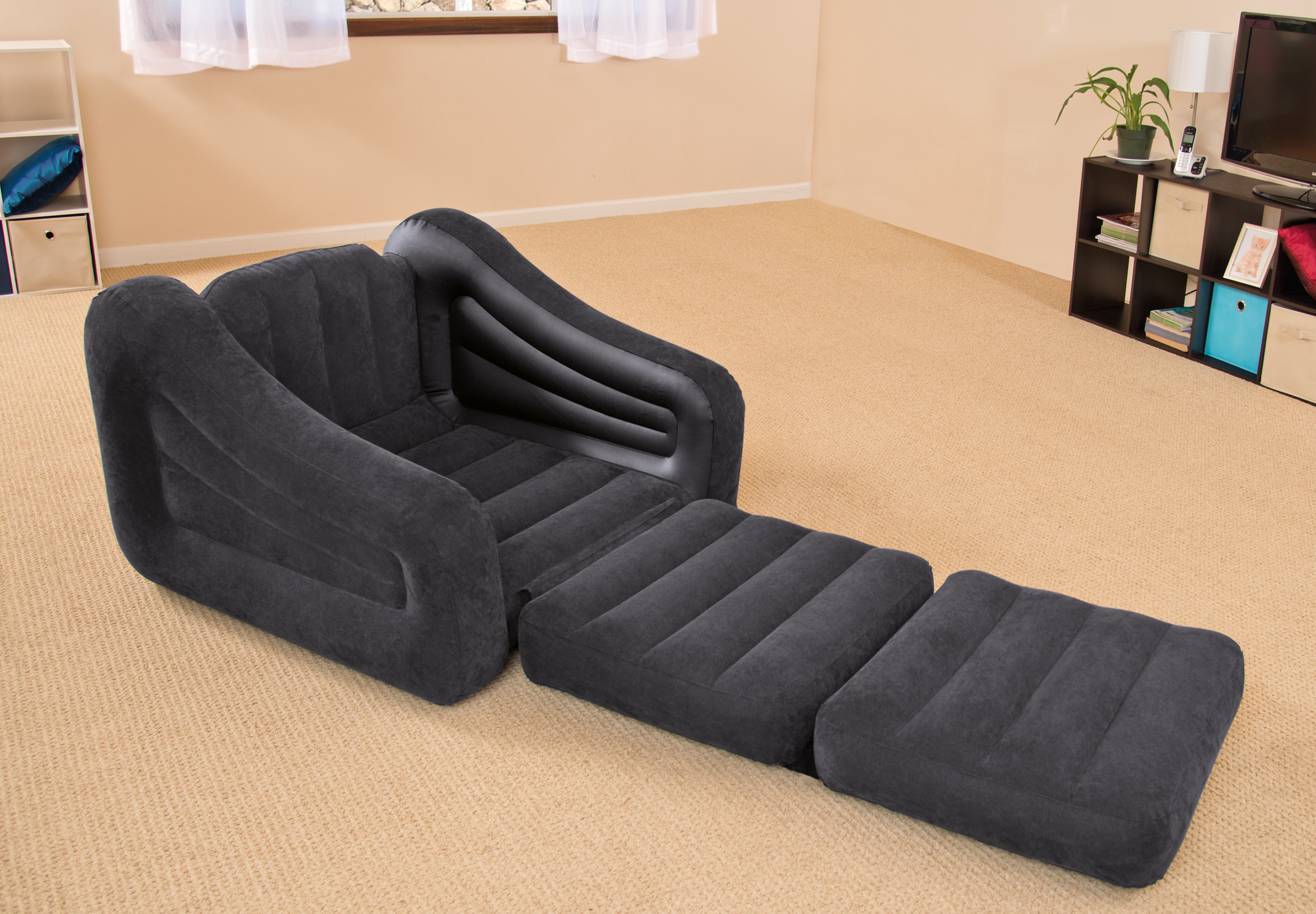 Intex Sofa Bed Intex Inflatable Air Chair With Pull Out Twin Bed Mattress