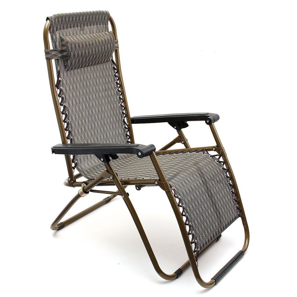 Poolside Chairs 2zero Gravity Folding Chair With Cup Tray Recliner