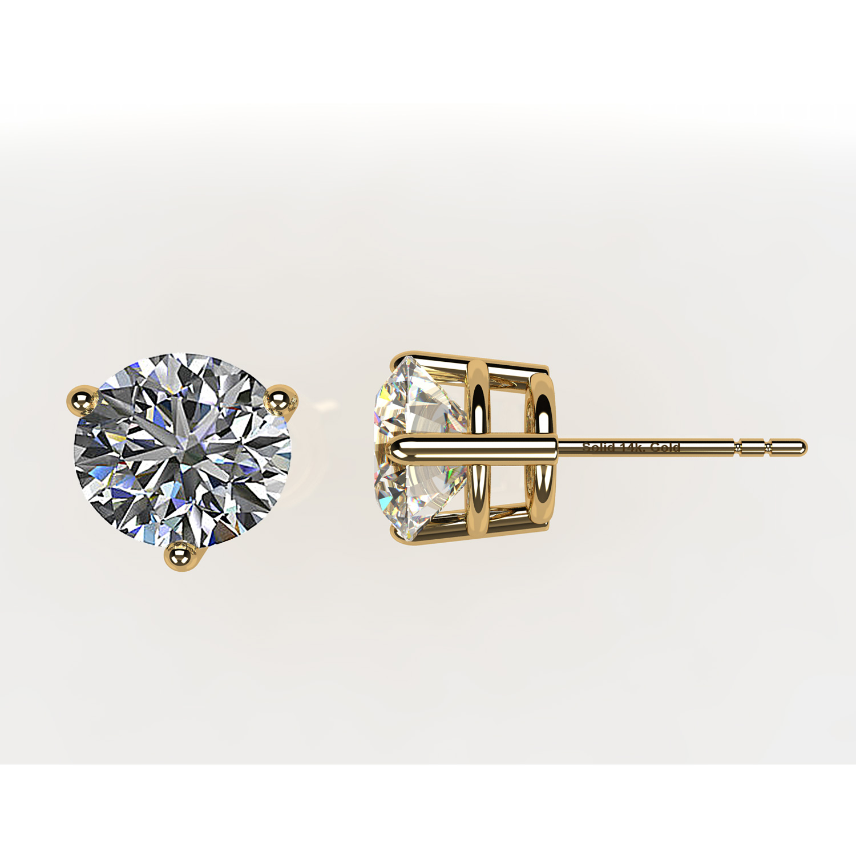 NANA Sterling Silver Earrings 14k Solid Gold Post