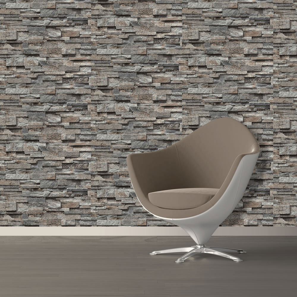 3d Effect Stone Brick Wall Textured Vinyl Wallpaper Self Adhesive Split Face 3d Slate Brick Stone Effect Vinyl Wallpaper