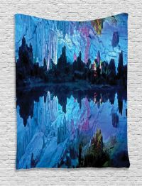 Reed Flute Cave with Artifical Lights Palace Nature Image ...