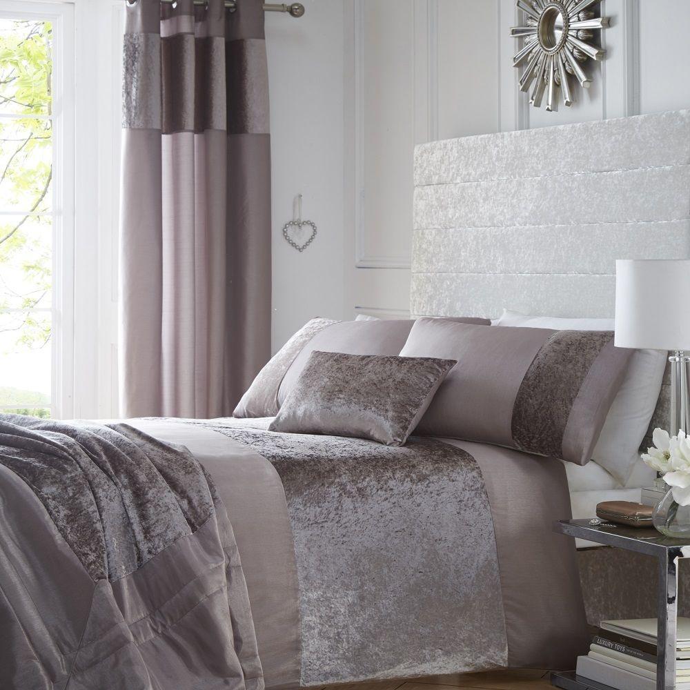 Portofino Luxury Crushed Velvet Duvet Bedding Set