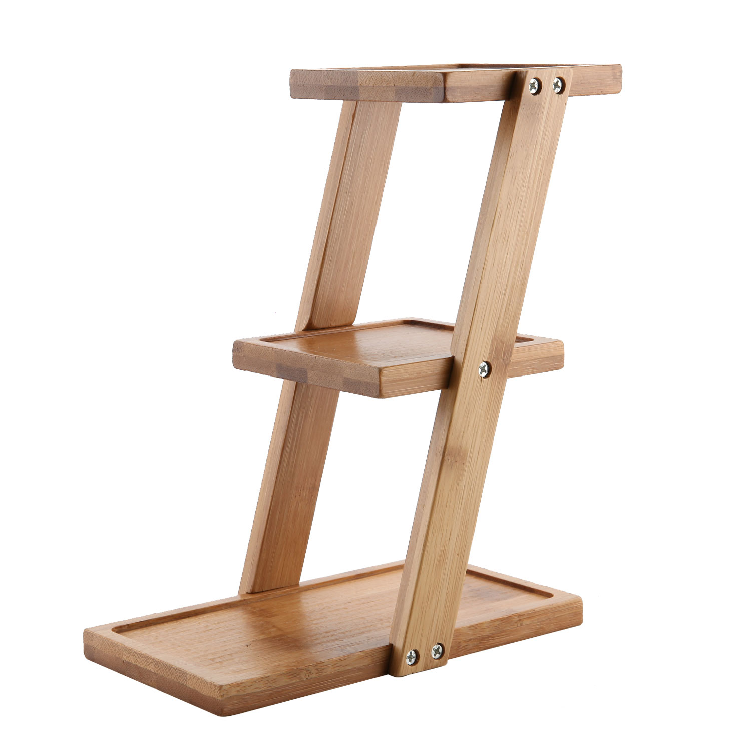 Bamboo Planter Stand Bamboo Wooden Shelf Stand Plant Folding Multi Tier Ladder