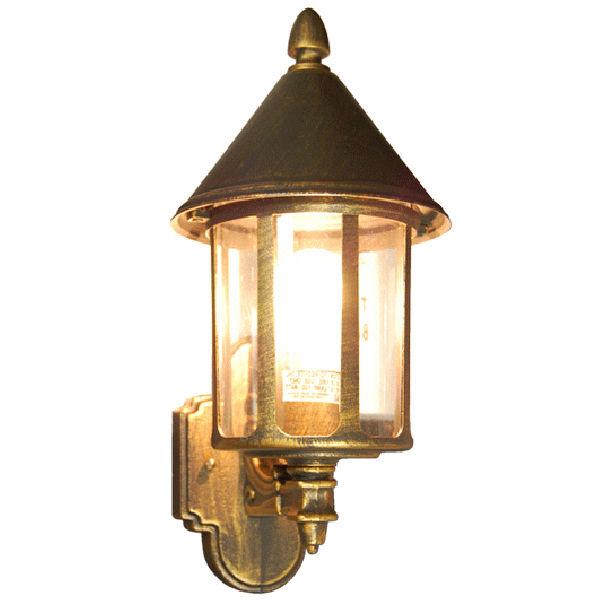 TP Lighting Brushed Golden Black Tin Man Style Wall