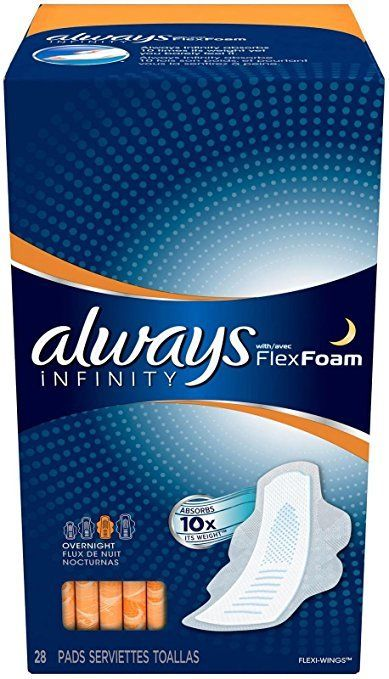 Always Infinity Pads with Wings, 28 Count 37000117186 eBay