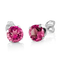 2.25 Ct Round Mystic Pink Topaz 925 Silver Pendant and ...