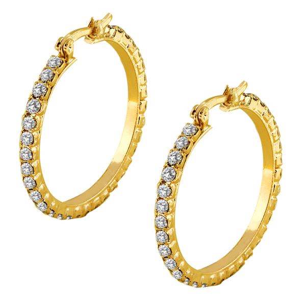 Beautiful 20mm 3/4 Inch Round Gold Color with White