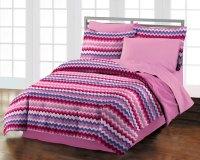 NEW Blackberry Chevron Teen Girls Purple Cotton Comforter ...
