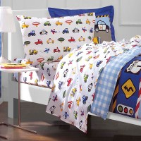 NEW Trucks Tractors Cars Boys Blue Red Twin Bedding ...