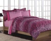 NEW Girls Teen Hot Pink Zebra Animal Print Twin Comforter ...