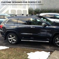 2011-2018 Jeep Grand Cherokee Black Front & Rear Roof Top ...