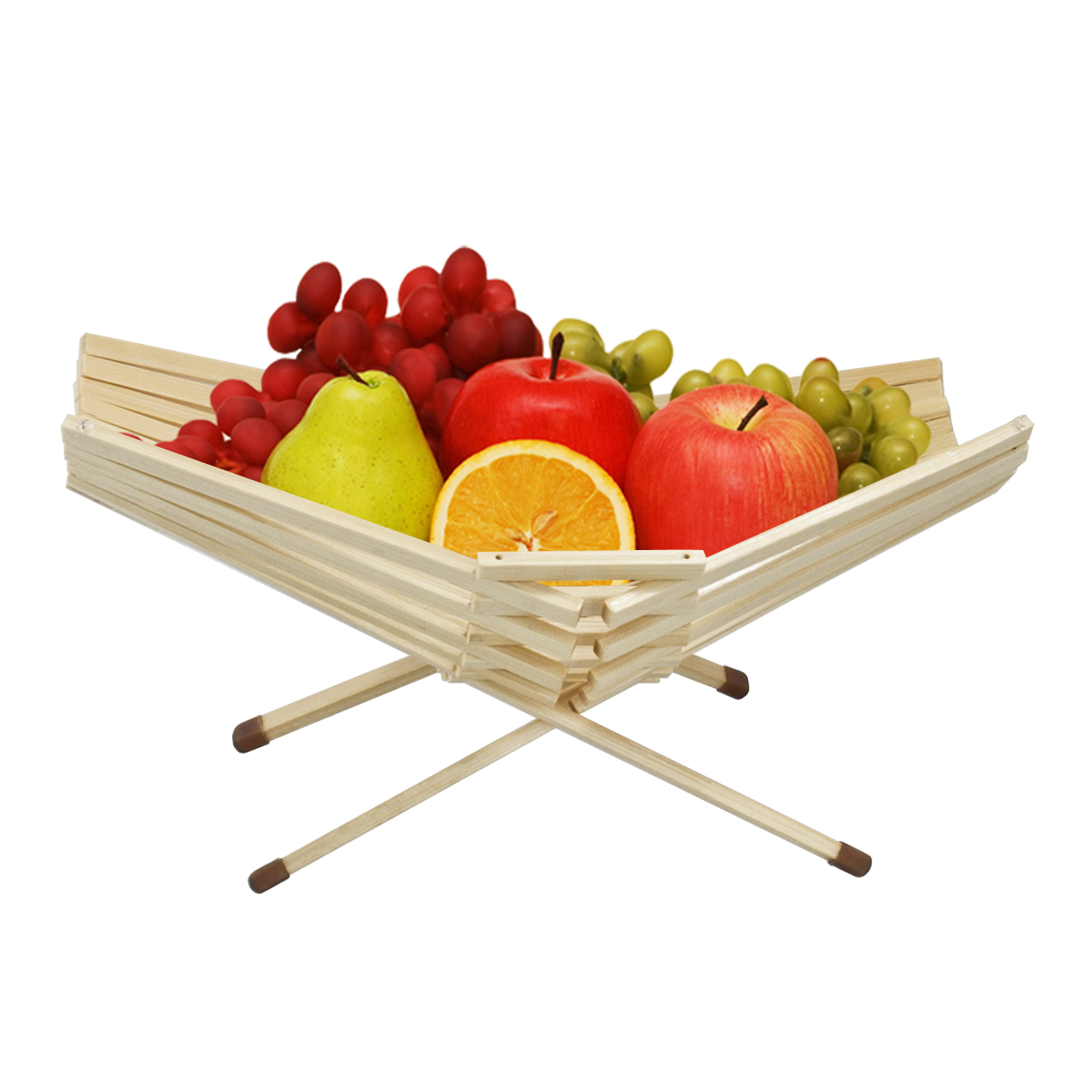 Table Top Fruit Basket Chef Collection Table Bowl Decor Bamboo Fruit Basket