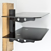 New Component Shelf 2 Tier Wall Mount DVD Cable Box Game ...