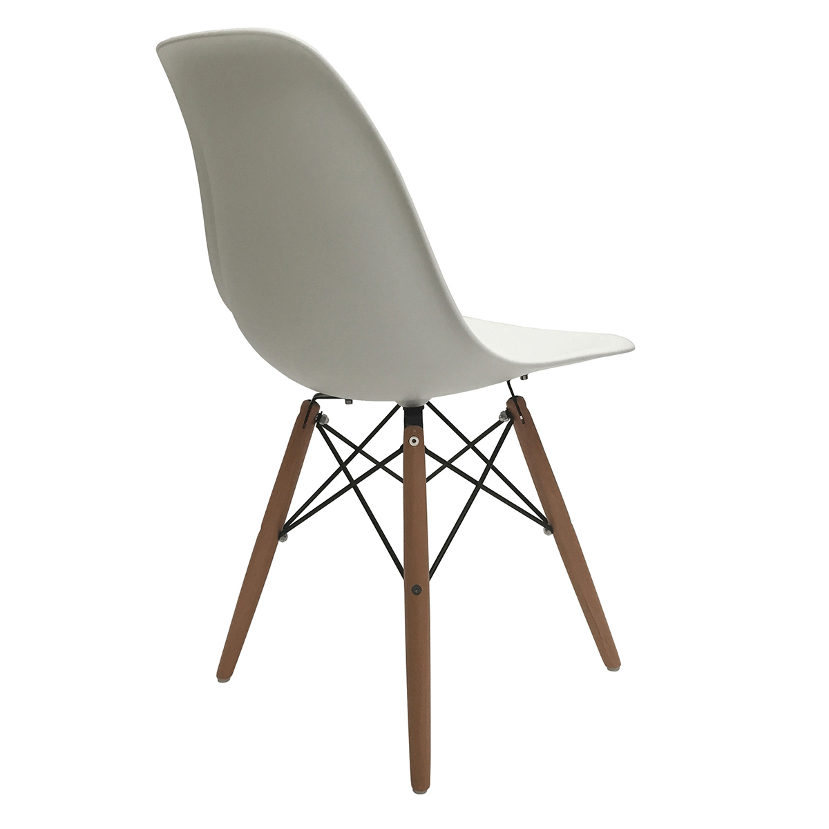 Eames Molded Plastic Chair Knockoff Set Of 4 Eiffel Molded Plastic Side Dining Chairs Eames