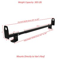 "2pc 60"" Universal Roof Mount Gutterless Van Ladder Rack ..."