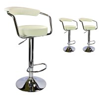 SET OF (2) BAR STOOLS MODERN HYDRAULIC SWIVEL DINING CHAIR ...