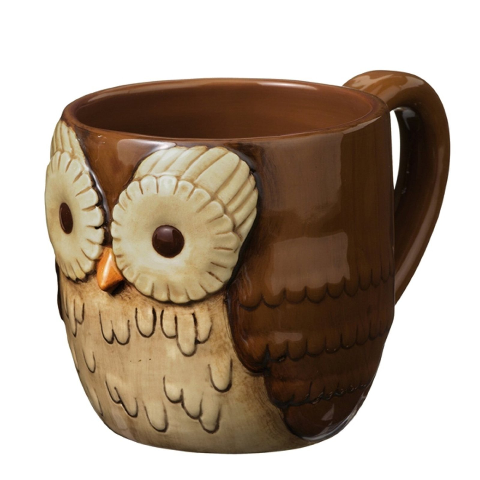 Owl Ceramic Mug Crimson Hollow Brown Owl Coffee Latte Tea Chocolate