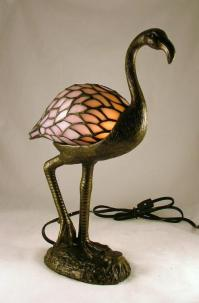 Stained Glass Tropical TiKi Pink Flamingo Lamp | eBay