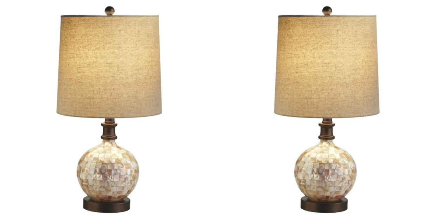 Coastal Lamps Details About Coastal Capiz Shell Table 60 Watt Lamps 21 Inch Set Of 2 Midwest Cbk