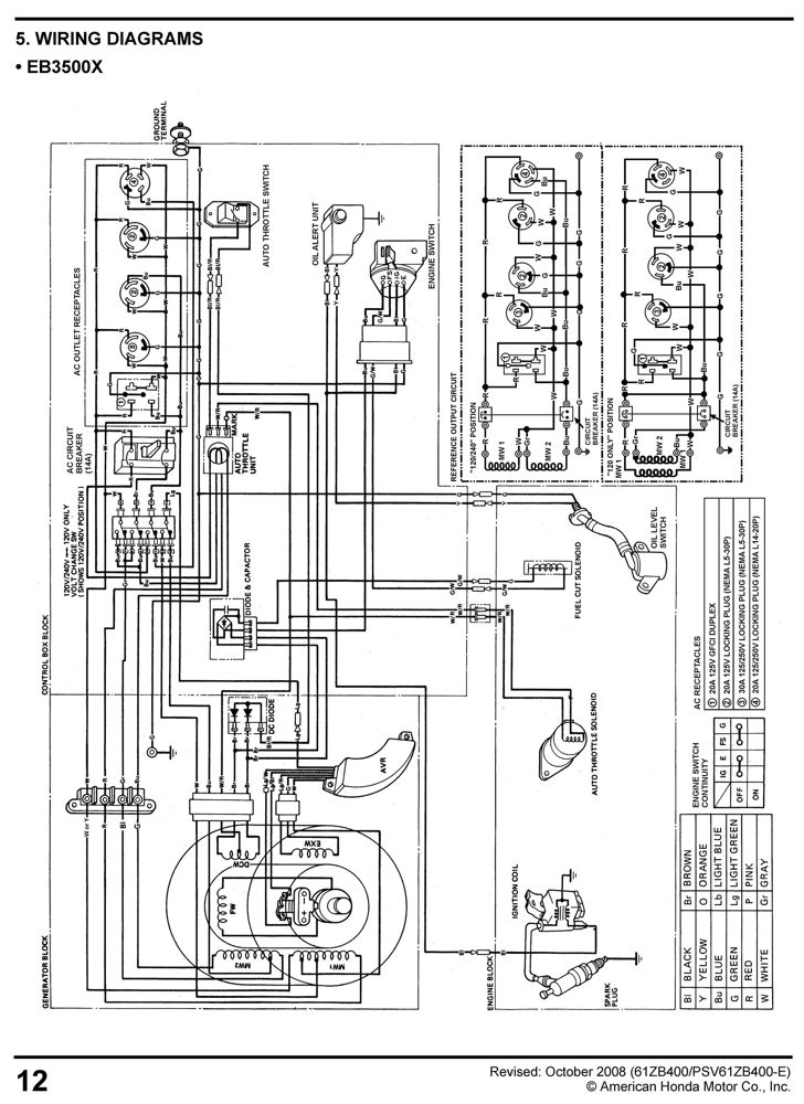 honda eu3000is generator service repair shop wiring diagram