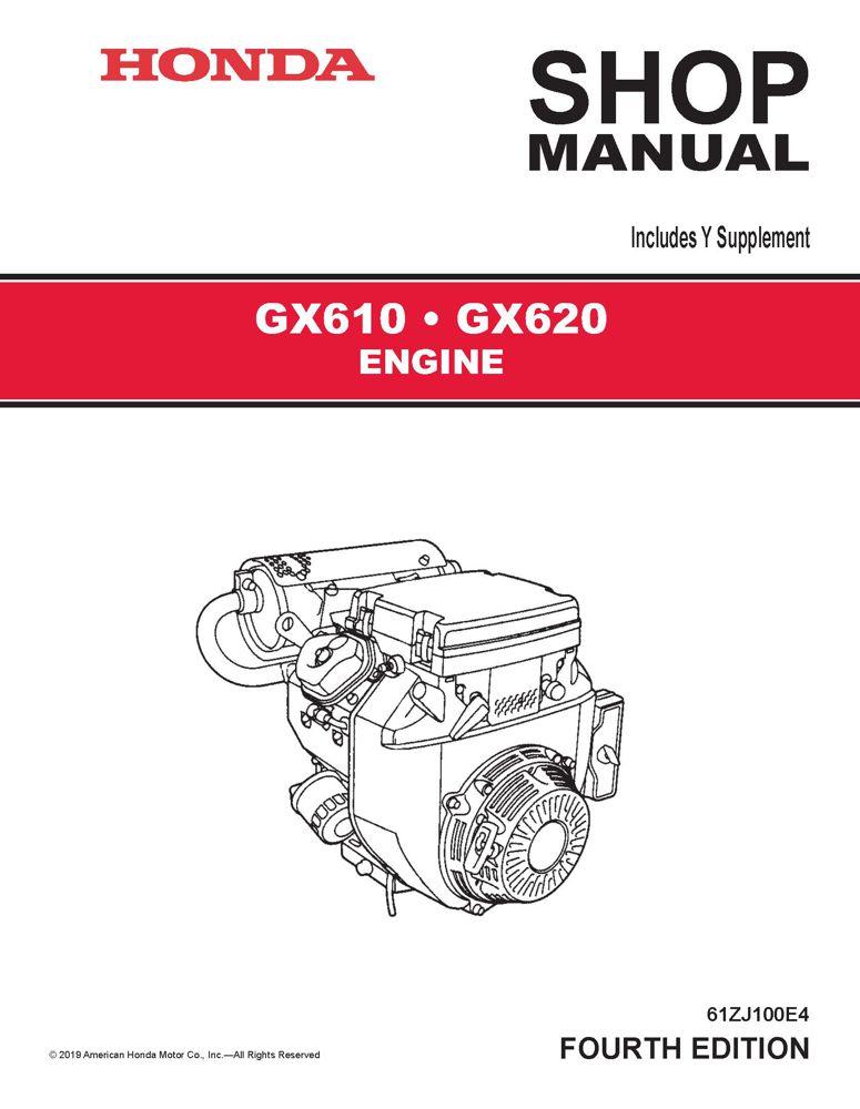 GX610 GX620 K0 Engine Service Repair Shop Manual Honda Power