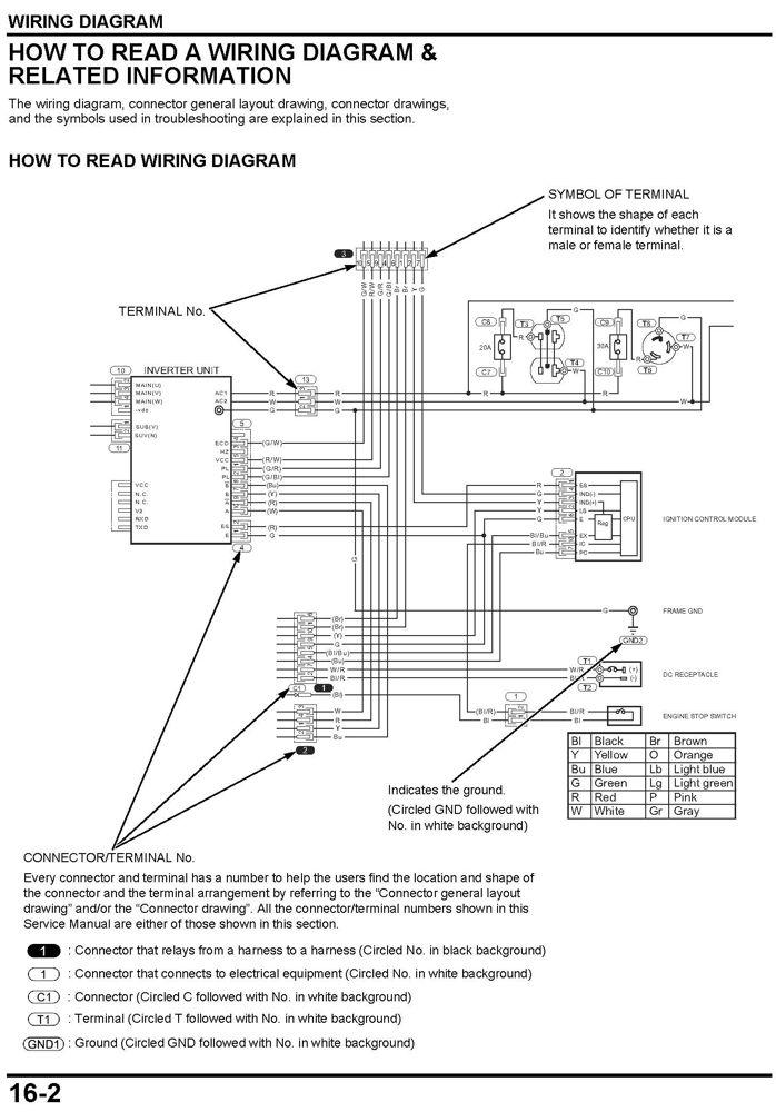 Honda Generator Eu3000is Wiring Diagram - Wiring Diagrams