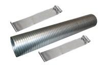 "24"" Stainless Steel Flexible Exhaust Tubing 4"" Dia Flex"