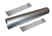 "24"" Stainless Steel Flexible Exhaust Tubing 4"" Dia Flex ..."