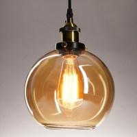Vintage Industrial Glass Ceiling Pendant Chandelier Light ...
