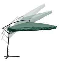 9X9' Square Aluminum Offset Umbrella Patio Outdoor Shade w