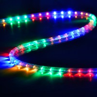 150' LED Rope Light 110V 2 Wire Party Home Christmas ...