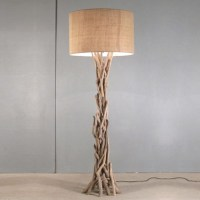 NEW! NAUTICAL DRIFTWOOD BRANCH FLOOR LAMP - SEASIDE OCEAN ...