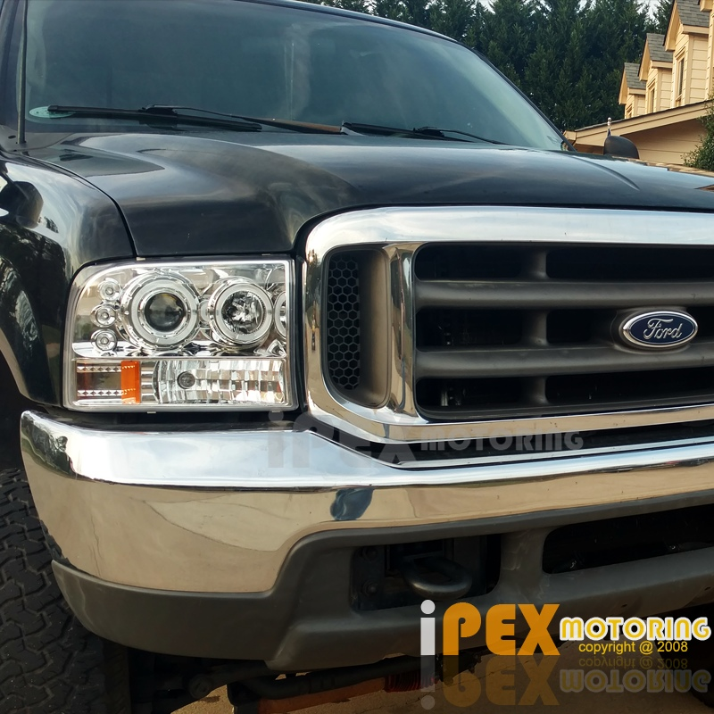 NEW 1999-2004 Ford F250/F350 SUPER-DUTY Halo LED Projector