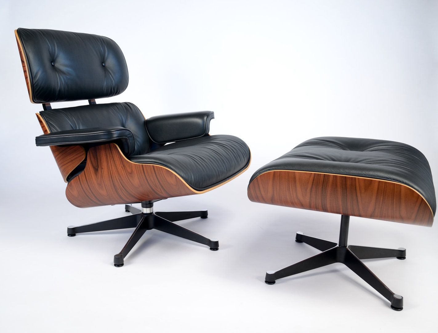Reproduction Eames Chair Details About Black Leather Palisander Wood Eames Reproduction Lounge Chair Ottoman Set
