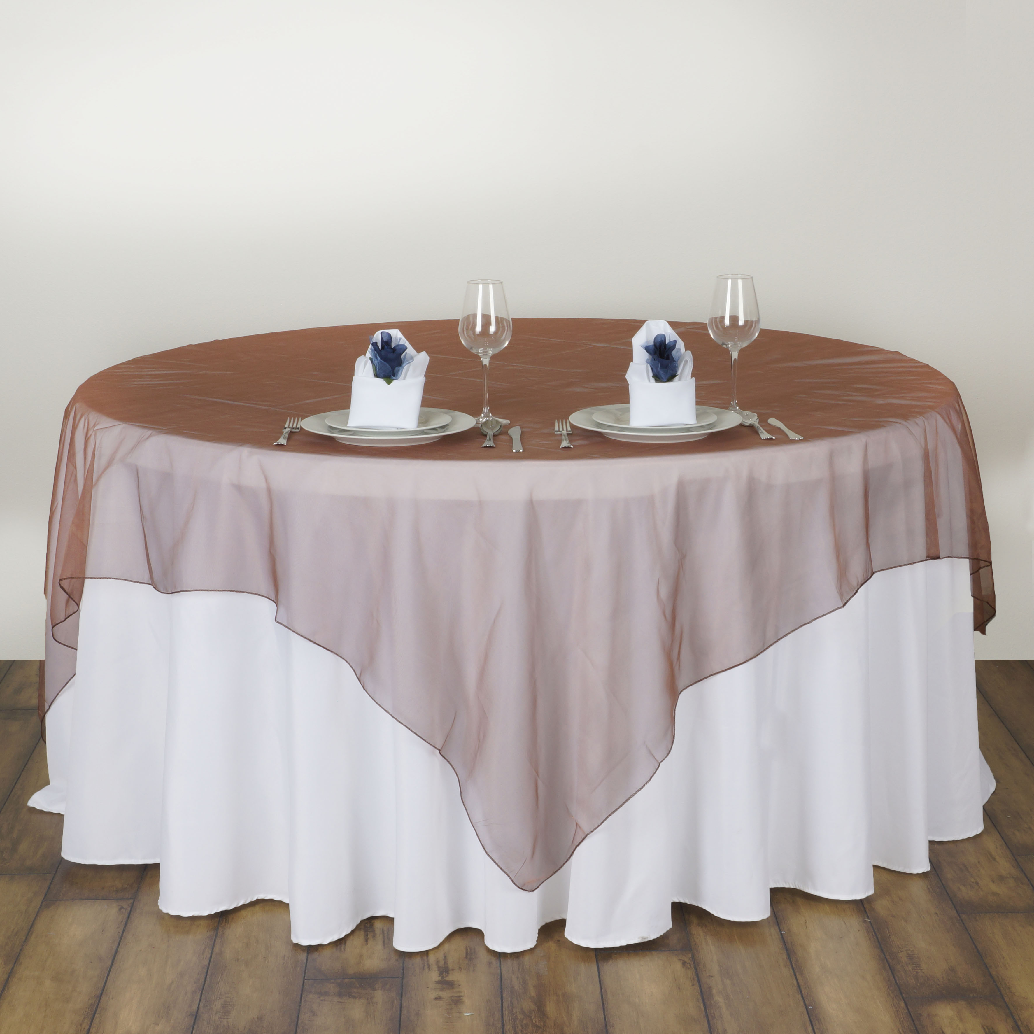 6 X Sheer Organza 60x60quot Square Table Overlays Toppers
