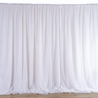 20 ft x 10 ft WHITE Fabric BACKDROP Wedding Party ...